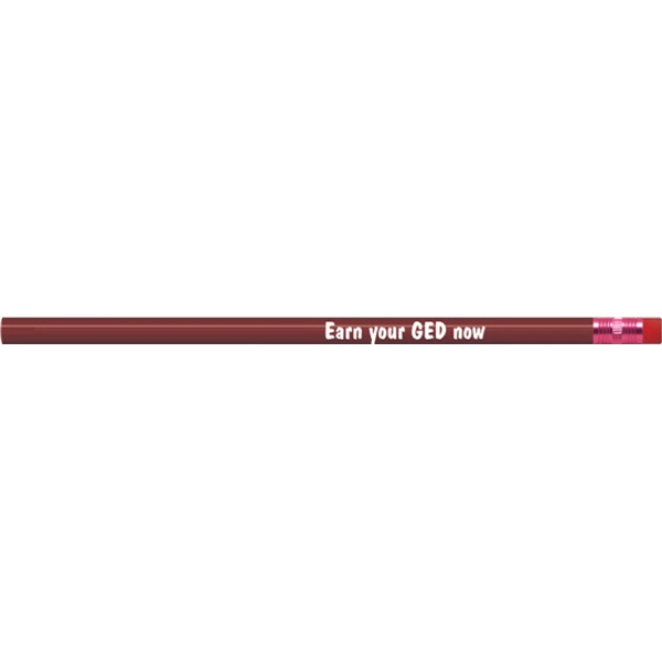 Maroon Painted Round Pencils