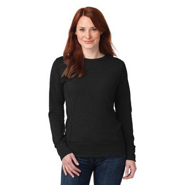 Anvil Ladies French Terry Crewneck Sweatshirt.