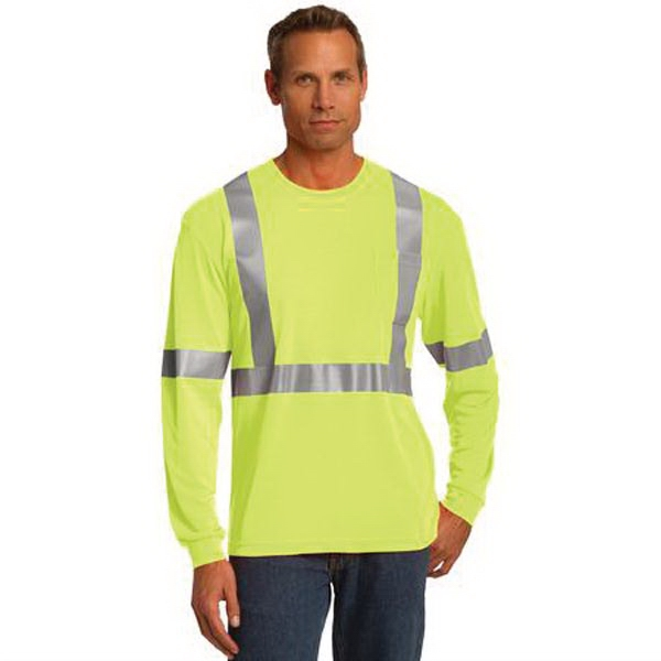 CornerStone ANSI 107 Class 2 Long Sleeve Safety T-Shirt.