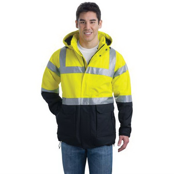 Port Authority ANSI 107 Class 3 Safety Heavyweight Parka.