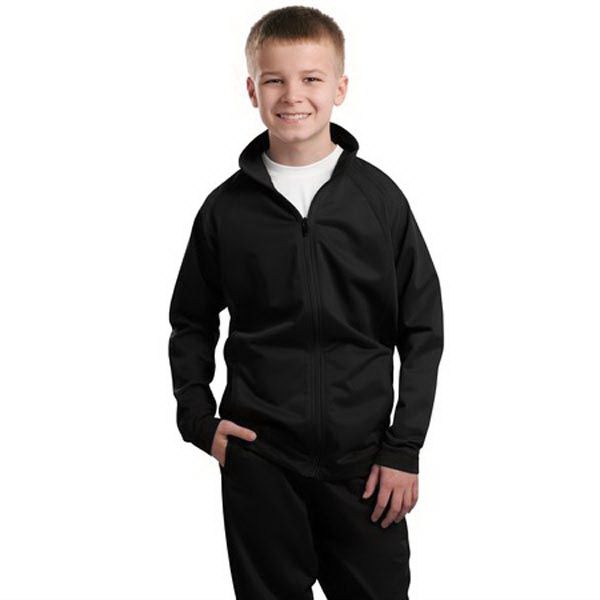 Sport-Tek Youth Tricot Track Jacket.