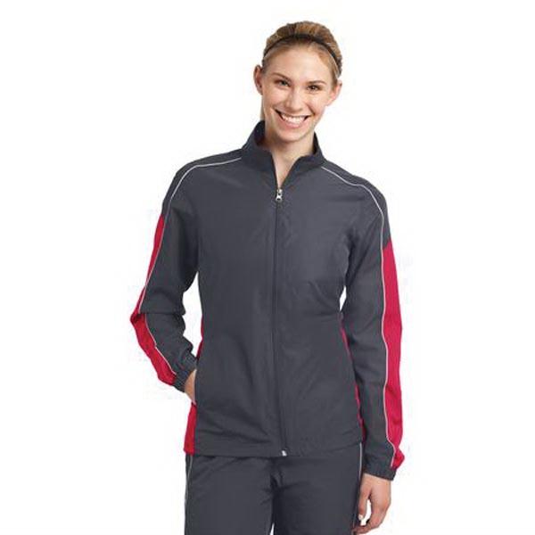 Sport-Tek Ladies Piped Colorblock Wind Jacket. - Sport-Tek Ladies Piped Colorblock Wind Jacket.