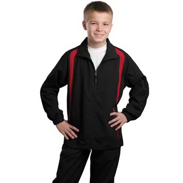 Sport-Tek Youth Colorblock Raglan Jacket.