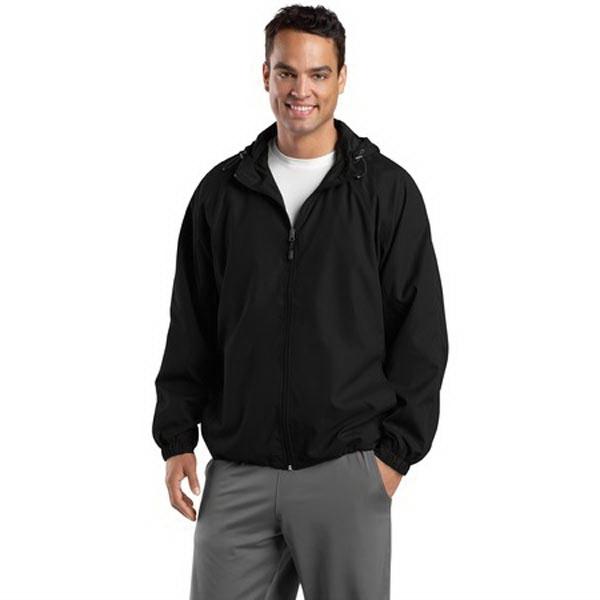 Sport-Tek Hooded Raglan Jacket.