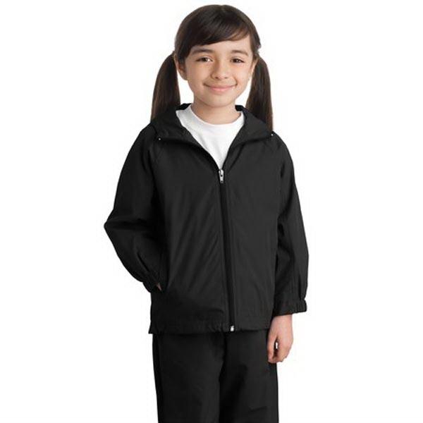 Sport-Tek Youth Hooded Raglan Jacket.