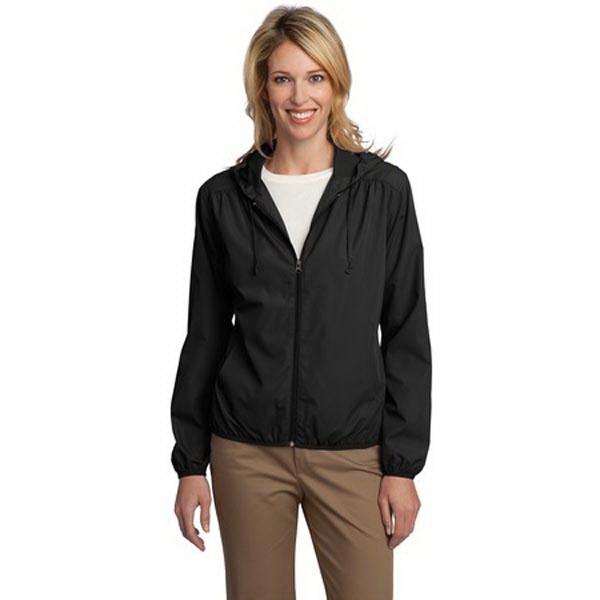 Port Authority® Ladies Hooded Essential Jacket.