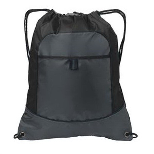 Port Authority Pocket Cinch Pack. - Port Authority Pocket Cinch Pack.