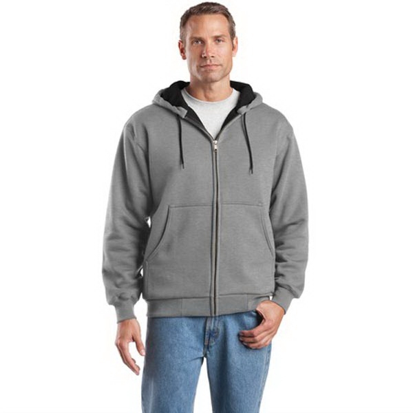 CornerStone - Heavyweight Full-Zip Hooded Sweatshirt with Th