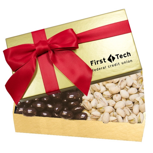 Executive Chocolate Covered Almond & Pistachio Gift Box