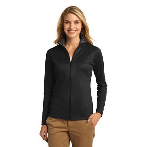 Port Authority Ladies Vertical Texture Full-Zip Jacket.