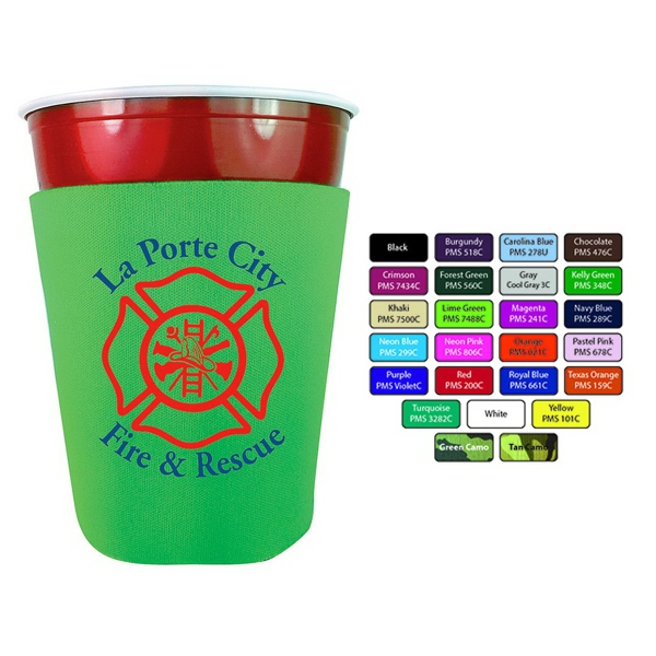Party Cup Cooler  - Scuba can cooler made in the USA.