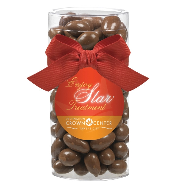 Large Gift Tube with Chocolate Covered Almonds
