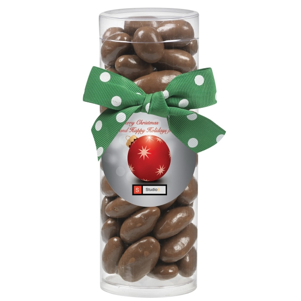Small Gift Tube with Chocolate Covered Almonds