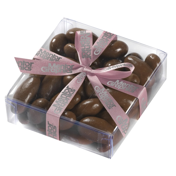 Large Present with Chocolate Covered Almonds