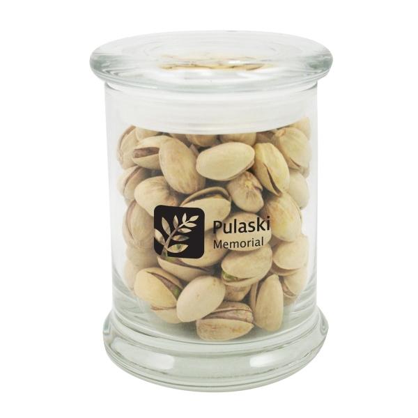 5.2 oz. Pistachios in Glass Status Jar
