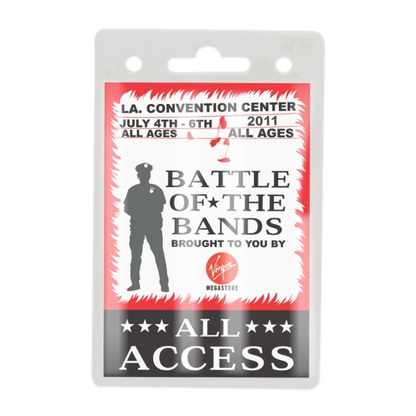 Blank Clear ID/Badge Holder - Clear trade show. ID or office badge holders can attach to most lanyards with a J-Hook. Bull Dog clip or one of our retractable ba