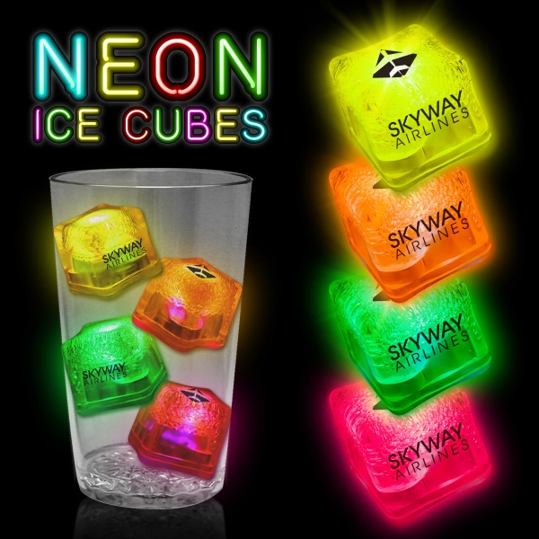 Neon Lited Ice Cubes
