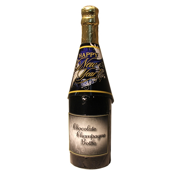 Happy New Year Chocolate Champagne Bottle