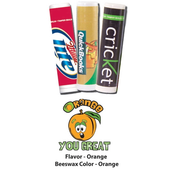 Lip Balm- USA made - Orange Flavor