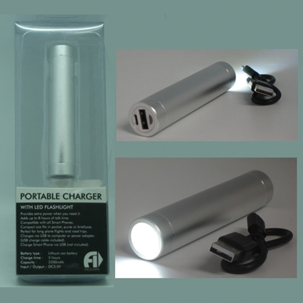 2 In One Power bank with LED Flashlight