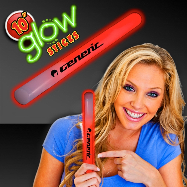 "Red Concert 10"" Glow light Sticks"