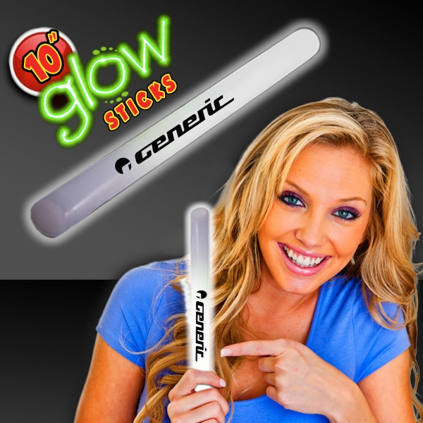 "White Concert 10"" Glow light Sticks"