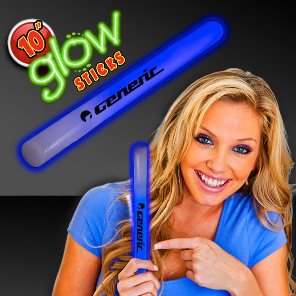 "Blue Concert 10"" Glow light Sticks"