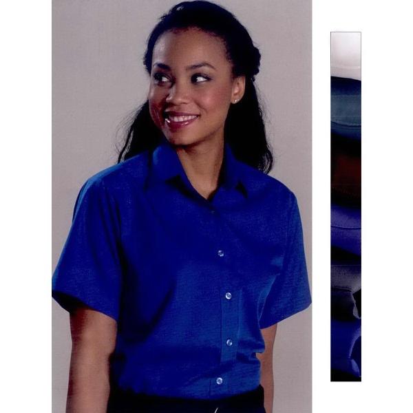 Ladies Broadcloth Value Short Sleeve Dress Shirt