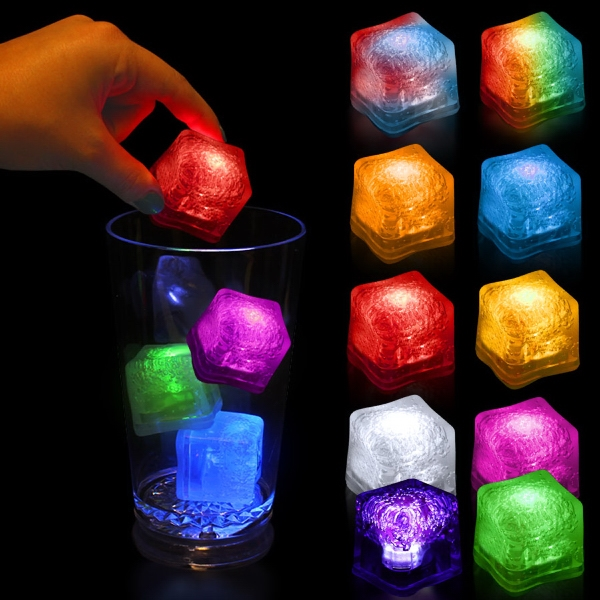 Light Up Premium LitedIce Brand Ice Cube, Blank