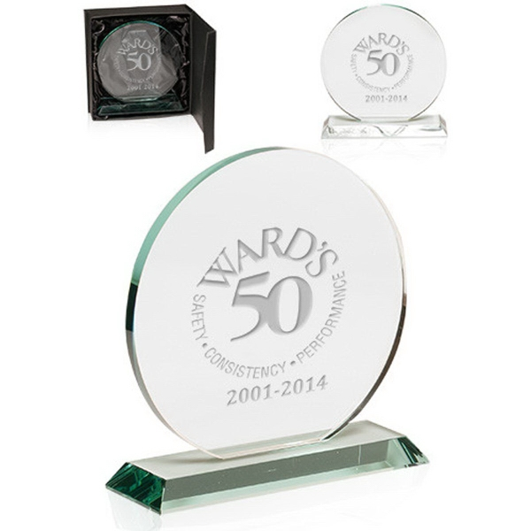 Round Glass Awards with Stand