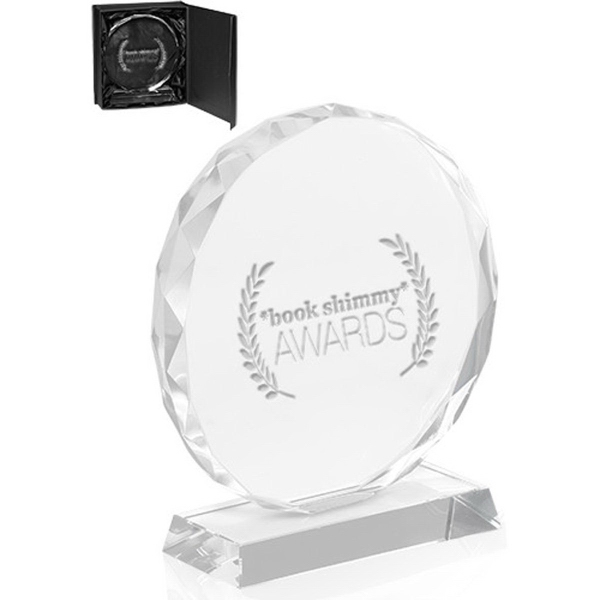 Round Edge Crystal Glass Awards
