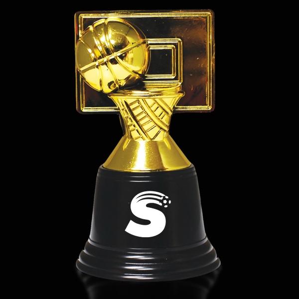 "4 3/4"" plastic basketball trophy - 4 3/4"" plastic basketball trophy."