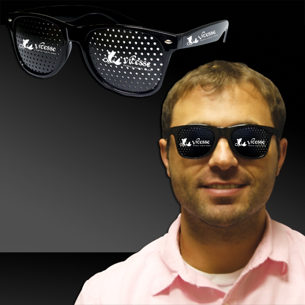 Black Billboard Costume Sunglasses Glasses