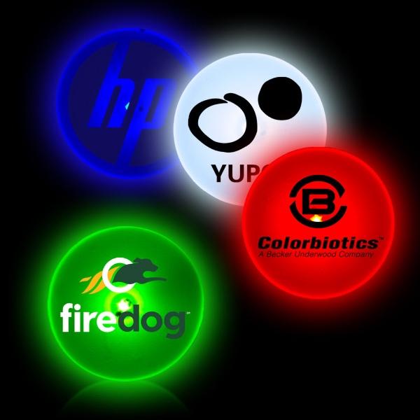 Circle Shape Flashing LED Light Up Glow Button