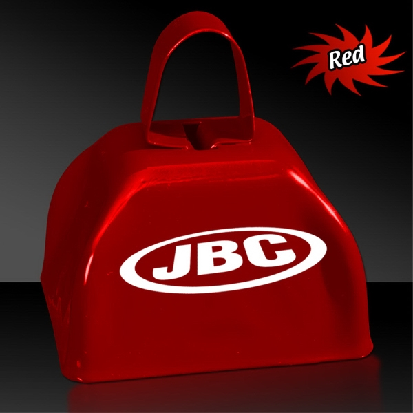"Red 3"" Metal Cowbell"