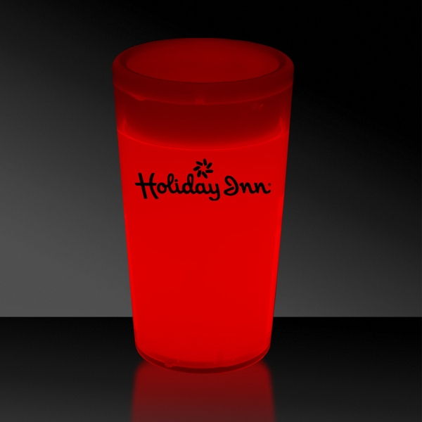 Red 2 oz. Tapered Style Light Up Glow Shot Glass