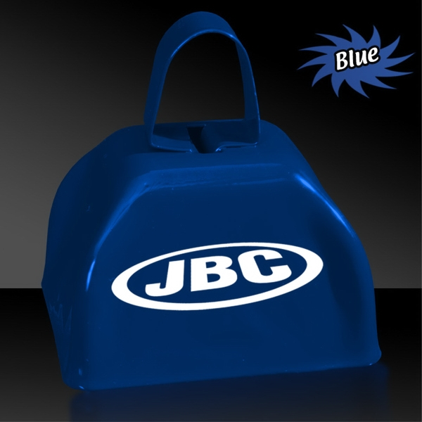 "BLue 3"" Metal Cowbell"