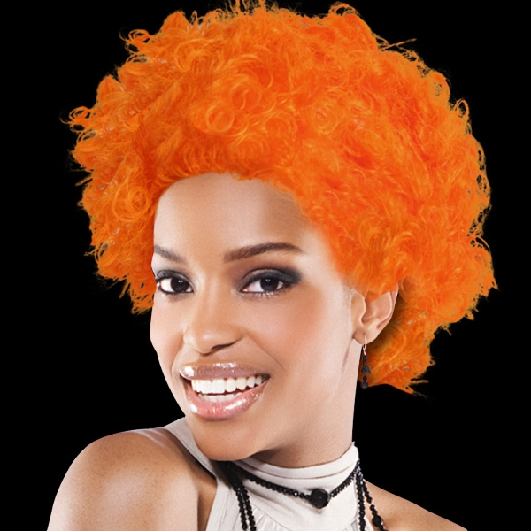 Orange Spirit Cheering Costume Wig