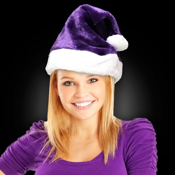 Purple Plush Santa Hat