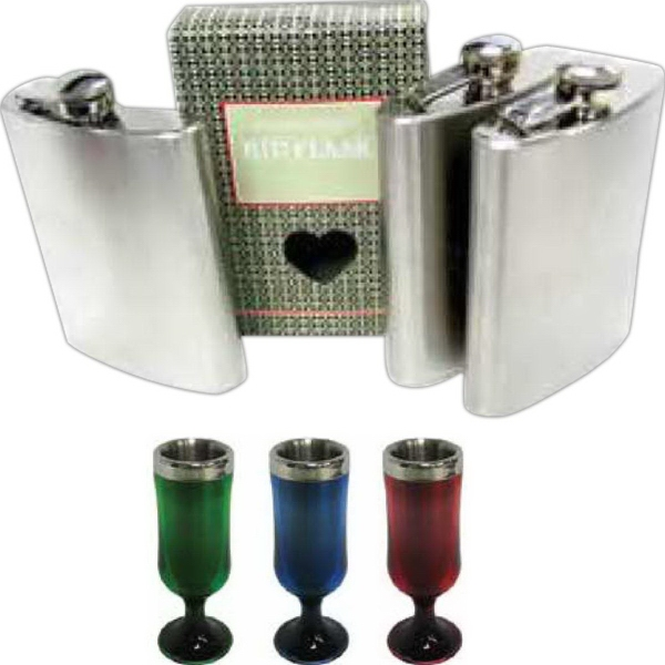 8 oz Travel Flask with Gift Box