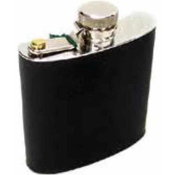 8 oz Leather Covered Travel Flask