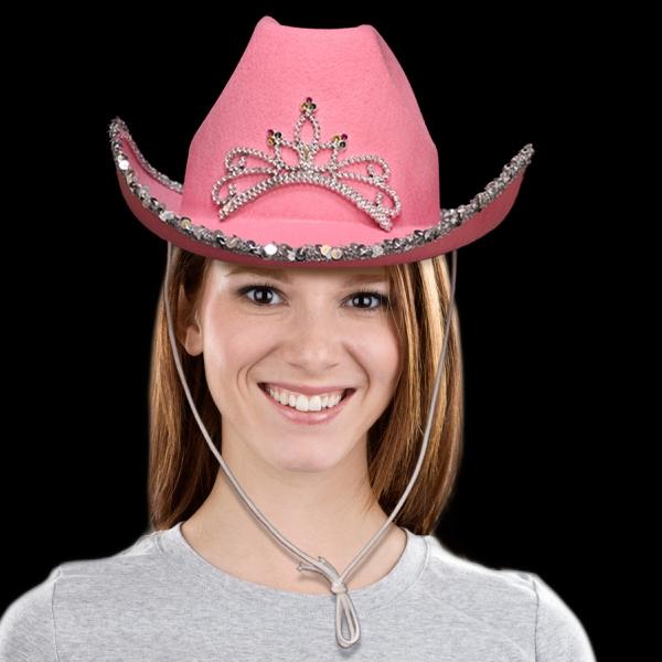 Pink Rhinestone Western Cowboy Hat