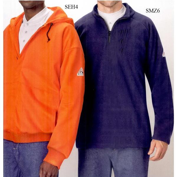 1/4 Zip-Front Modacrylic Fleece Sweatshirt