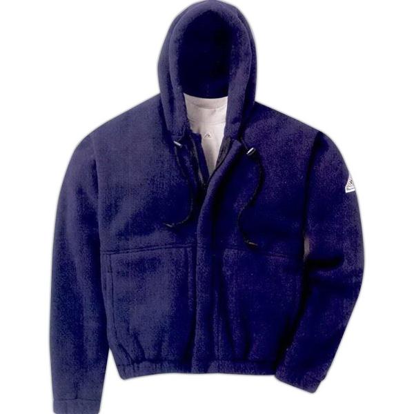 Zip-Front Hooded Fleece Sweatshirt