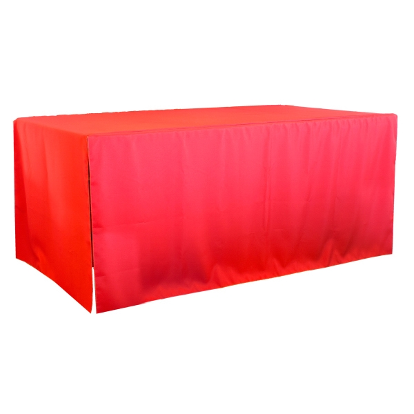 6' 3-Sided Economy Open Corner Table Covers & Table Throws