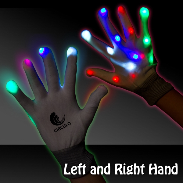 Light Up LED Glow Rainbow Gloves