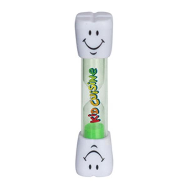 "Smile Two Minute Brushing Sand Timer - Smiling two minute sand timer; in a variety of fun colors; 3.875"" h  x  .75"" dia."