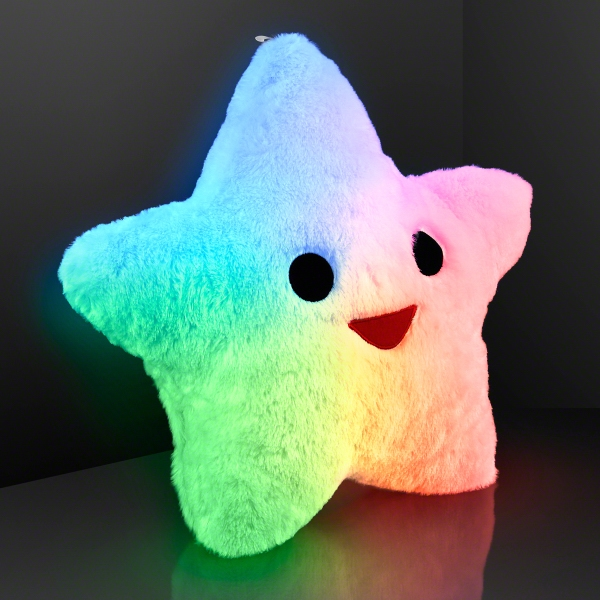 Happy Star Light Up Pillows, Auto-Off for Nap Time