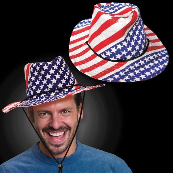 Patriotic Western Cowboy Hat