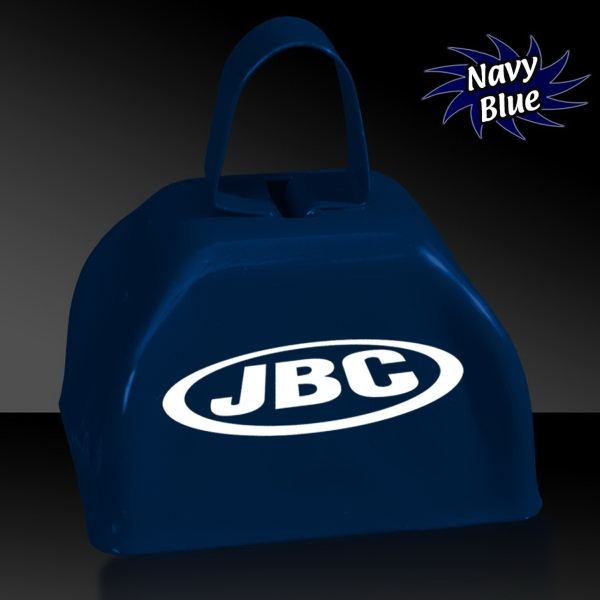 "Navy Blue 3"" Metal Cowbell"